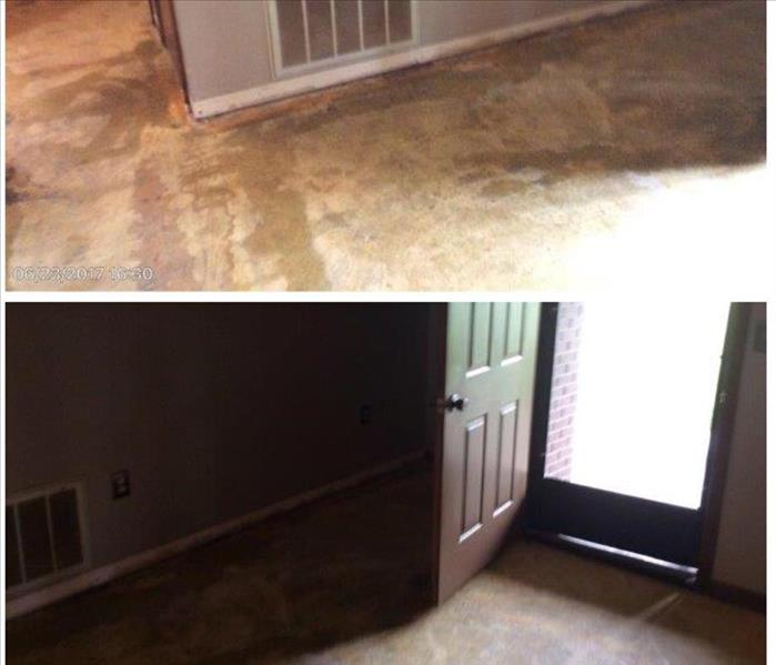 Home water damage Before