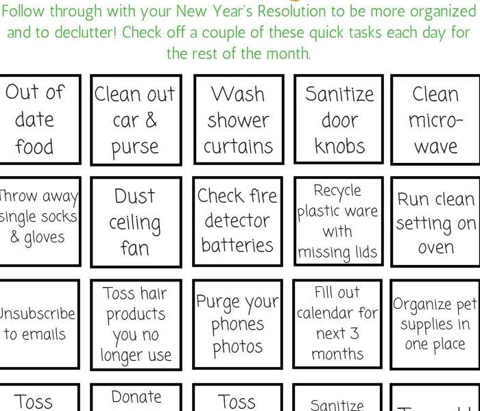 Commercial 2019 New Year's Cleaning & Organizing Challenge